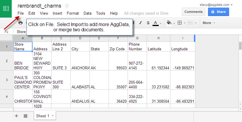 how to use google drive spreadsheet